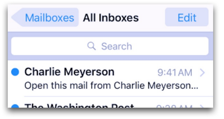 Don't include your name in subject line. Source: Charlie Meyers