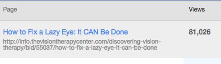 Lazy eye headline