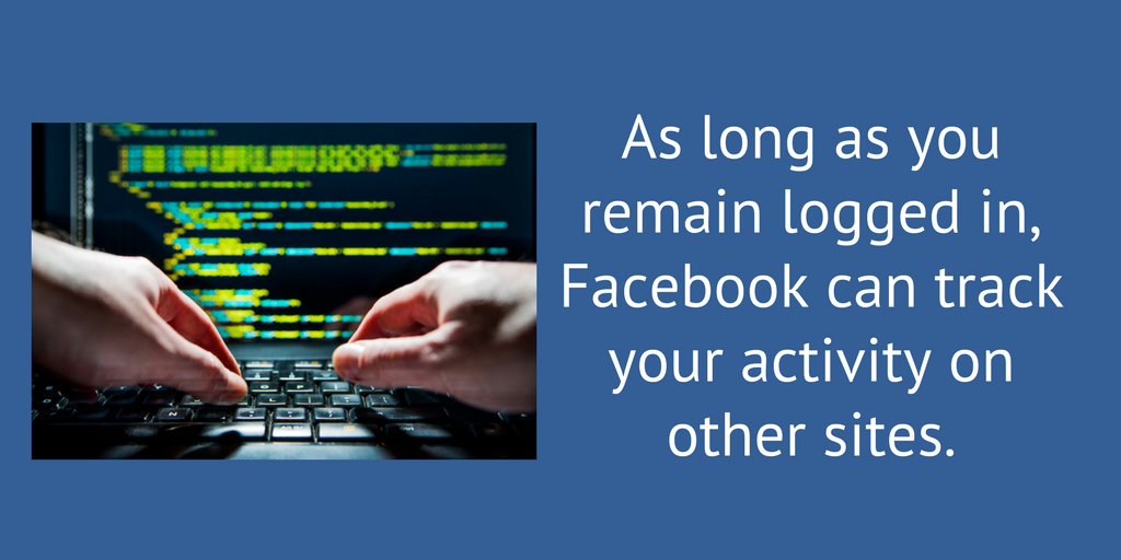 They can track your activity if you stay logged in.