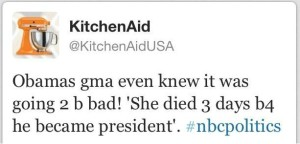 KitchenAid tweet