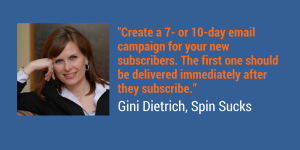 Create a new subscriber email campaign.