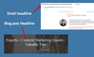 Article headline may not match email headline