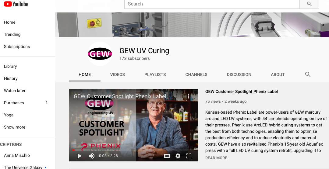 GEW UV Curing