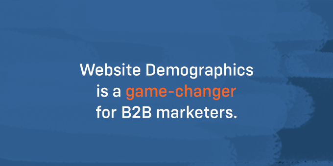 Website Demographics will provide you with a breakdown of the types of visitors coming to your site.