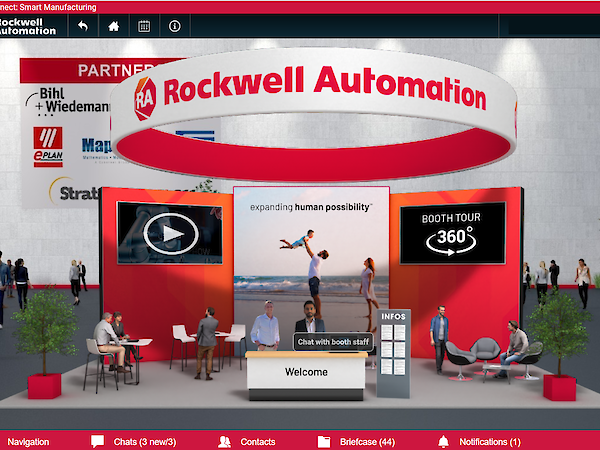 Rockwell Automation's booth.