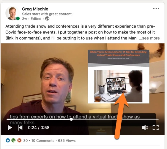 Use video to promote the actual blog post