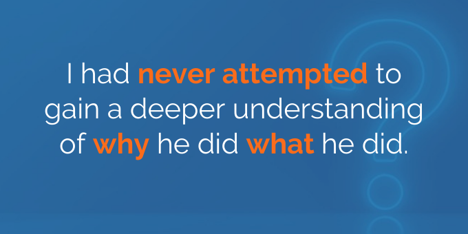 I had never attempted to gain a deeper understanding.