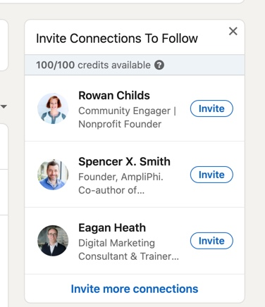 Invite connections to follow your page