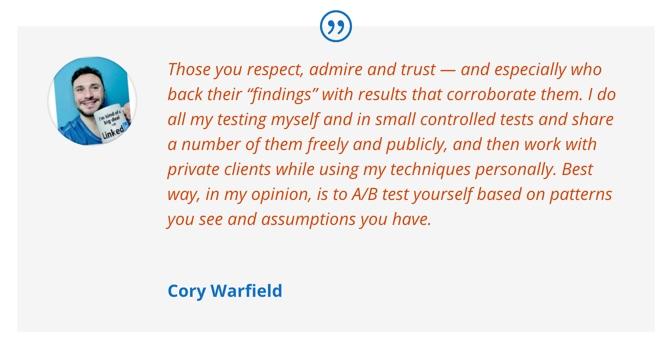 Cory Warfield quote