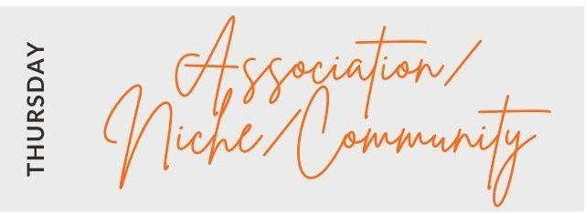 Association, Niche, Community on Thursday