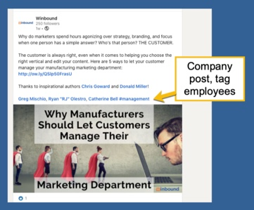Company Post, Tag Employees